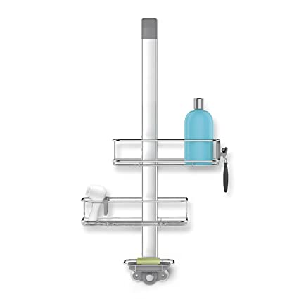 Amazon.com: simplehuman Adjustable Over Door Shower Caddy, Rust ...