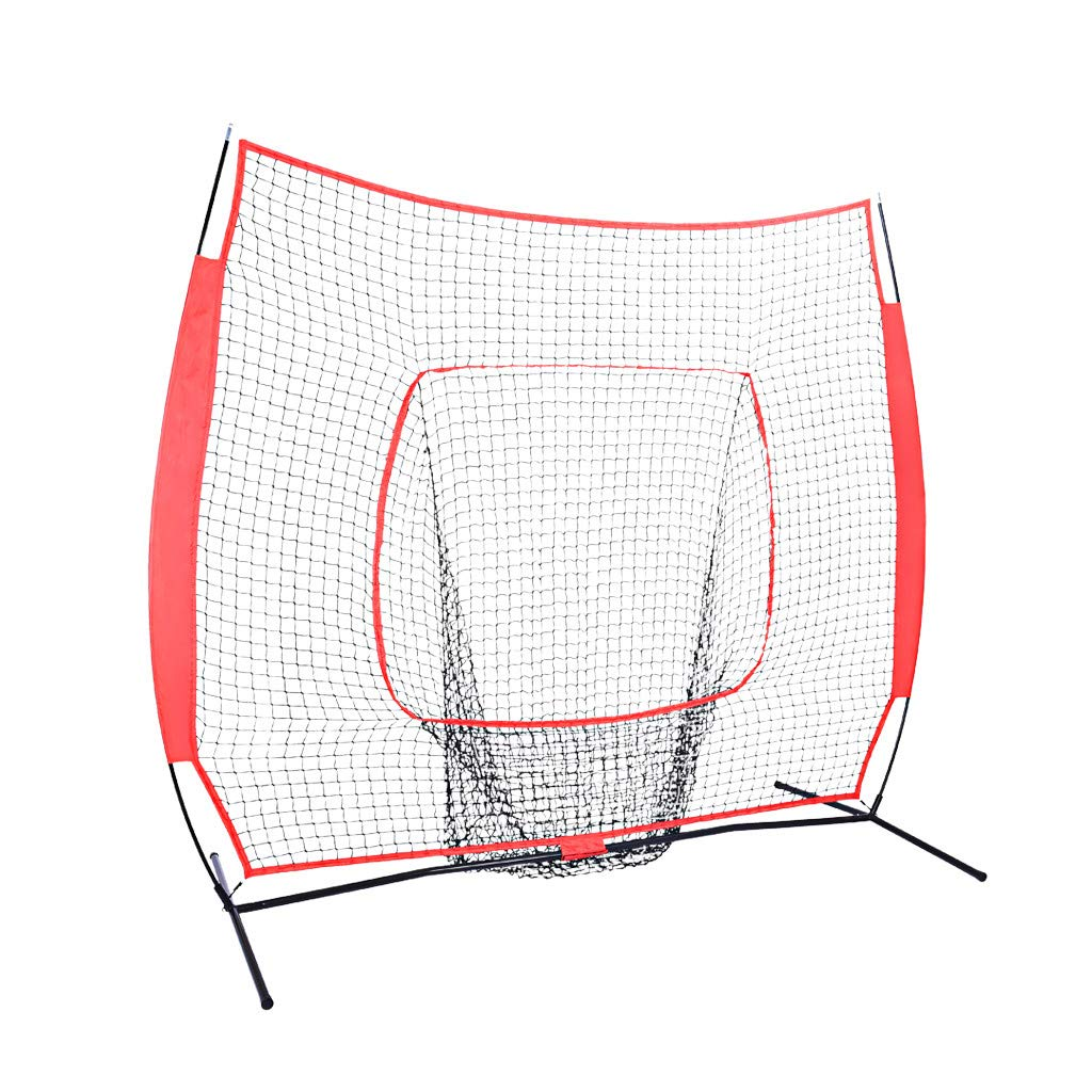 Heberry Baseball Training Net, Foldable Portable 7FT x 7FT Softball Practice Net Batting by Heberry