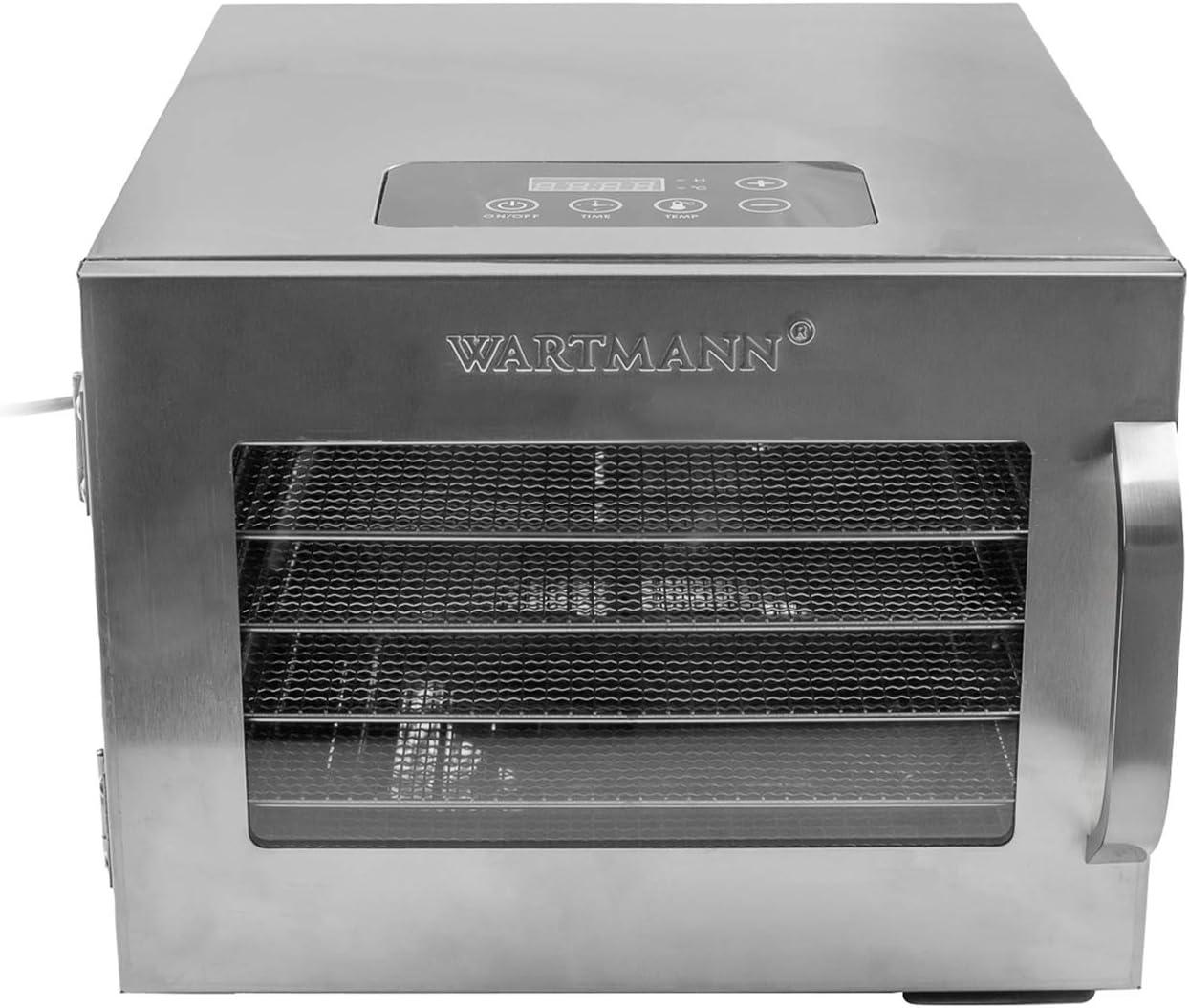 Wartmann Dörrautomat WM1902 DH Edelstahl Dörrgerät mit Timer NEU und UNBENUTZT