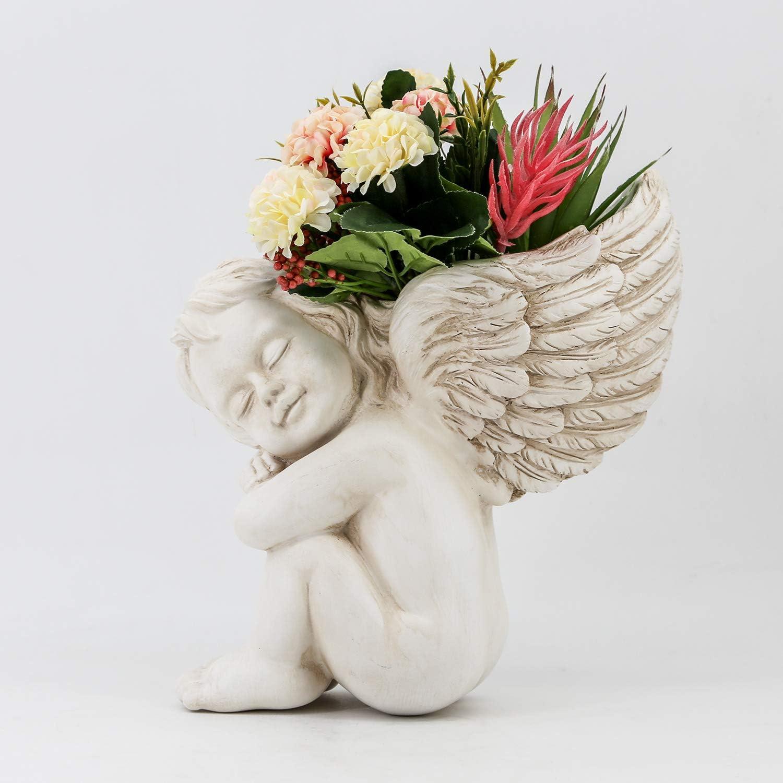 Wall Flowerpot Office Planter Decoration Figurine Statue Faux Plant Potting