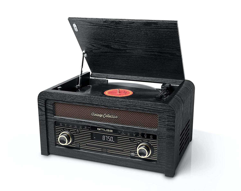 Muse MT-115 W Negro, Oro - Tocadiscos (Negro, Oro, 33,45,78 RPM ...