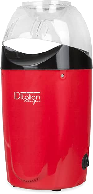 ITALIAN DESIGN ID Palomitero | Maquina de Palomitas Listas en 3 Minutos con Calentador de Mantequilla - 1200W: Amazon.es: Hogar