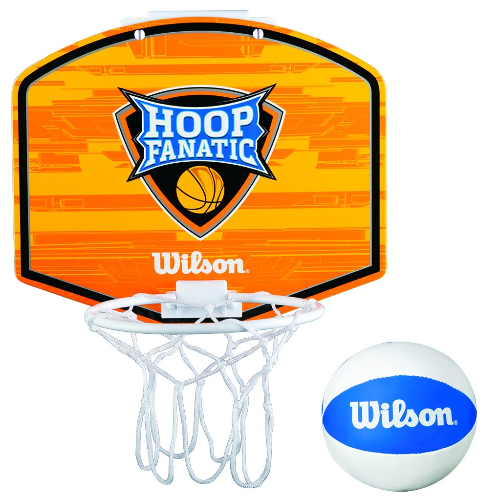 Wilson Fanatic Hoop Canasta de Mini Basket, Juventud Unisex, Naranja/Blanco / Azul, Talla Ú nica Talla Única Wilson Teamsport WTBA00435