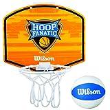 Wilson Hoop Fanatic Plastic Mini Hoop Basketball Board Kit, Orange/White/Blue