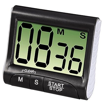 Xavax - Timer da cucina Countdown con grande display digitale nero ...
