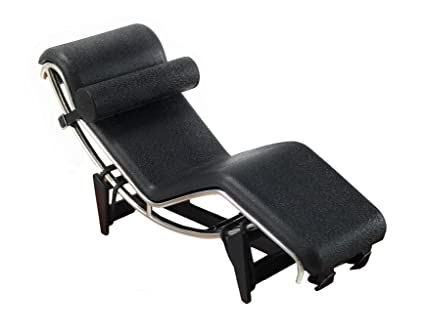 Mid Inch Chaise Scale2 Chair Designer 12 5 Tall In Miniature Century Corbusier Black1 cq5jS34ARL