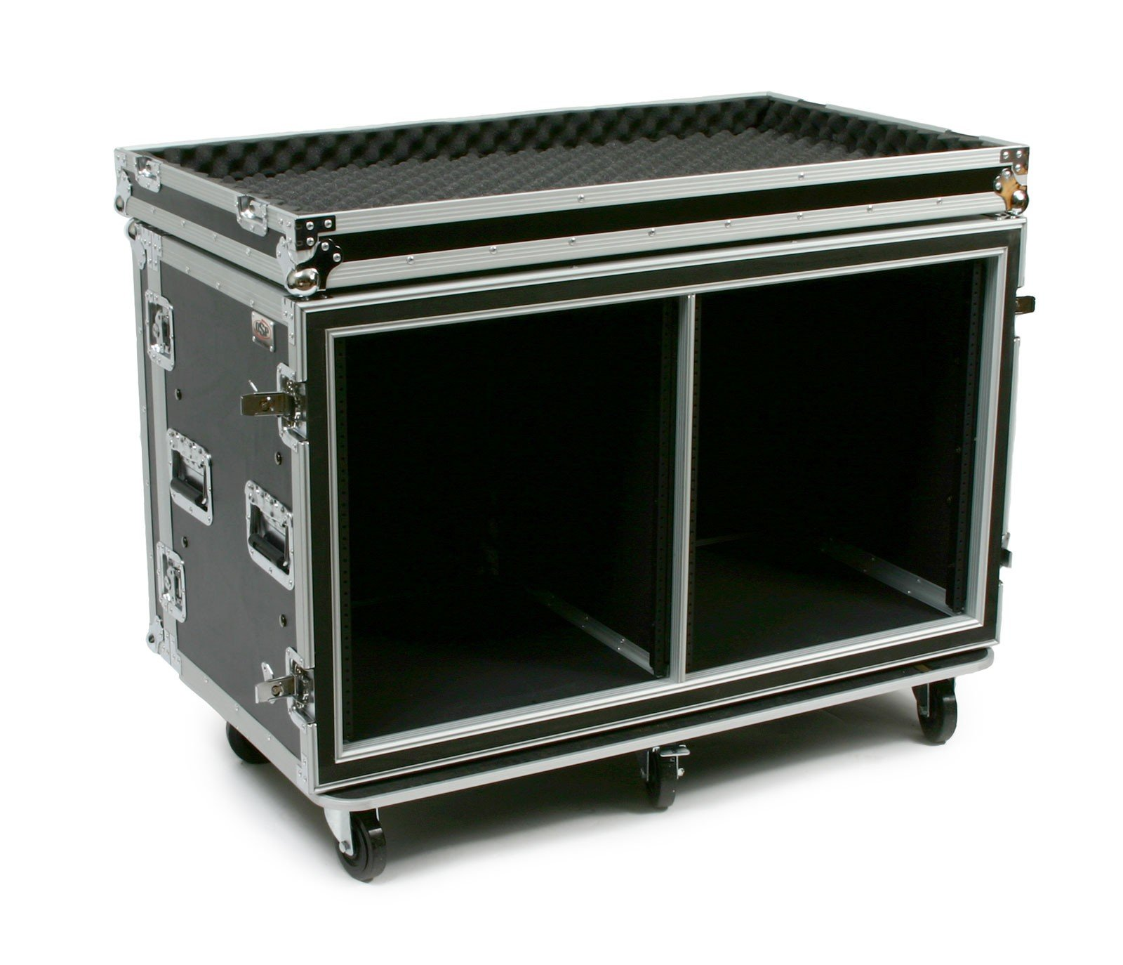 OSP Cases | ATA Road Case | Shock-Mount | 12-Space Side by Side | 20'' Deep | SC12U-20SXS by OSP