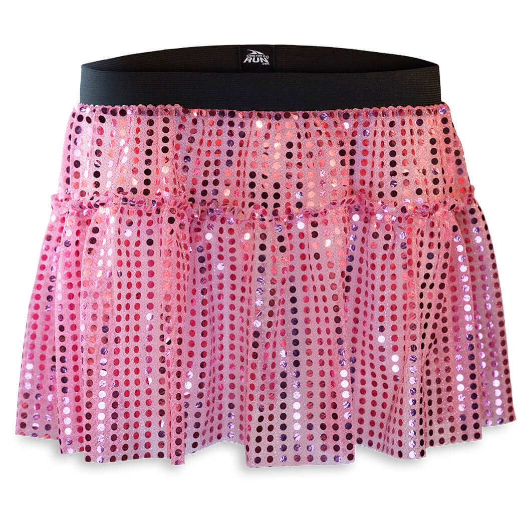Gone For a Run Running Costume Tutu Skirt Glitter Sequined Tutu   Pink by Gone For a Run
