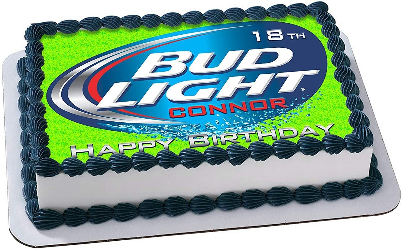 Miraculous Amazon Com Bud Light Beer Edible Cake Topper Personalized Funny Birthday Cards Online Elaedamsfinfo