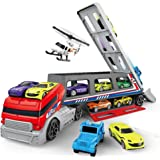 Toys Bhoomi Giant Transport Car Long Haul Carrier Truck - 22 Vehicles -Multi Color