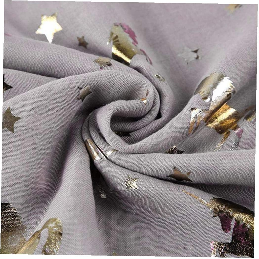 Angoter Einhorn-Druck-Langer Schal Gl/änzend Tier Bandana Leichte Cotton Schale Wraps Unendlichkeit Halten Sie Warmen Schal F/ür Frauen M/ädchen