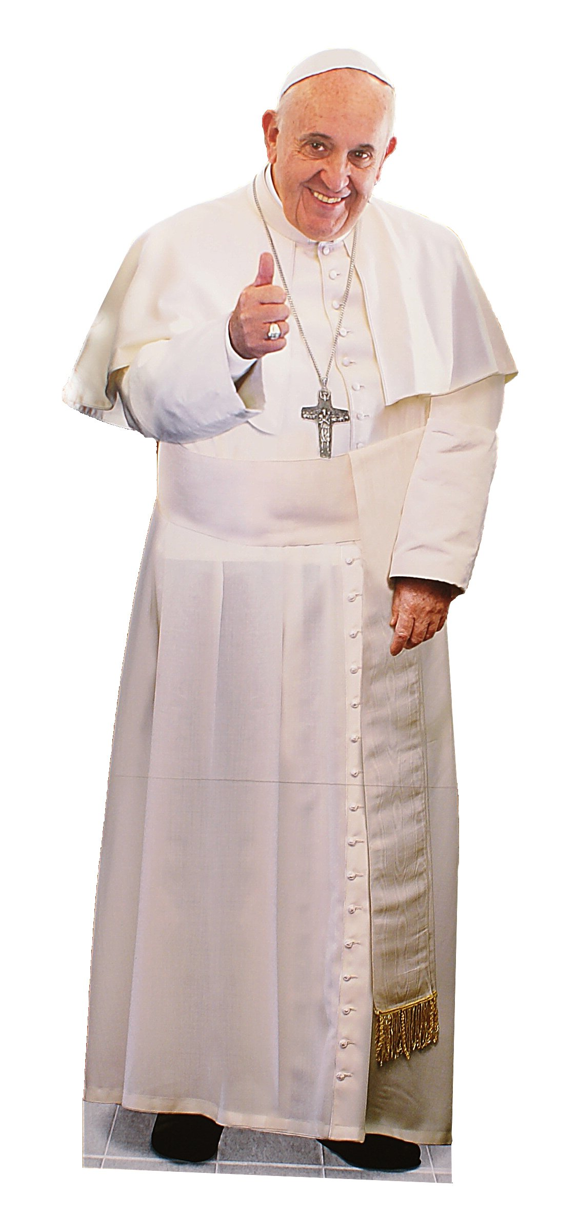 Pope Francis Thumps Up Lifesize Cutout Standee