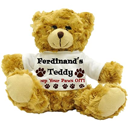 Ferdinand de Teddy, Keep Your Paws off. – personalizable macho nombre de peluche oso