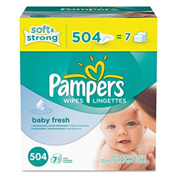 Pampers 28250CT Baby Fresh Wipes White Cotton 504/Carton