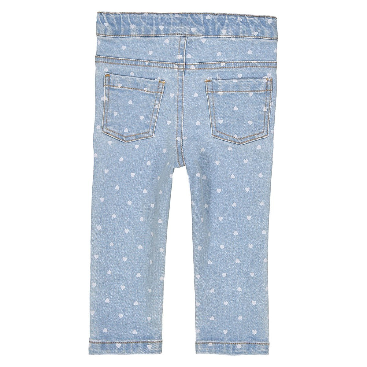 1 Month-3 Years Blue Size 9 Months La Redoute Collections Big Girls Heart Print Slim Fit Jeans 28 in.