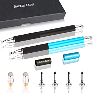 Dimples Excel Precisión Extrema Disco Stylus Bolígrafo Digital Lápiz Digital para iPad Air Pro, iPhone, Kindle Fire,Teléfono Tableta Tablet Dispositivos de ...