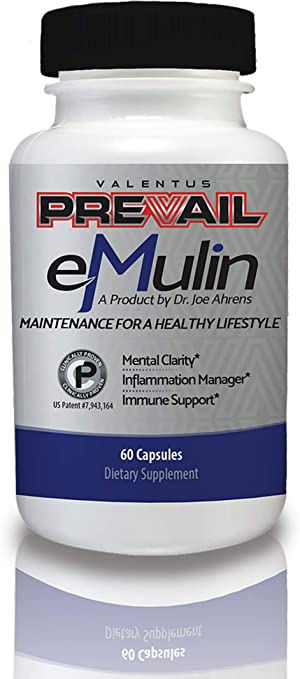 Valentus Prevail Emulin Dietary Supplements - Maintenance for A Healthy Lifestyle - Mental Clarity - Immune Support - Inflammation Manager [60 Capsules]