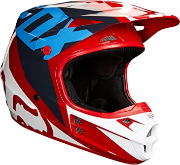 Fox Helmet V de 1 Race, red, tamaño L