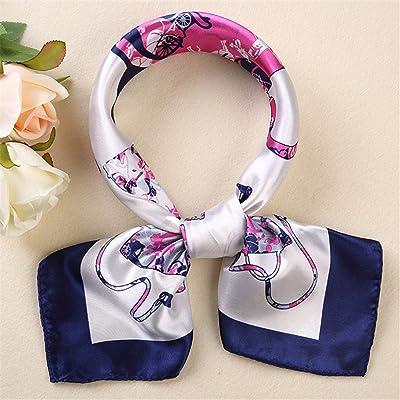 FLYRCX Ladies' Satin de soie foulard soie Foulard Mode ceinture cheveux décoratifs 60cmx60cm