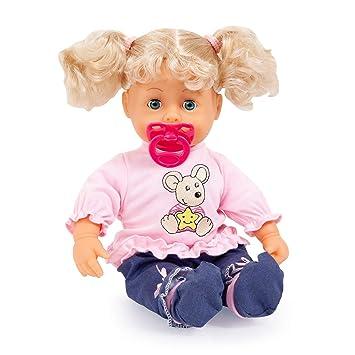 Amazon.es: Bayer Design Muñeca Bebé, Interactive Baby con Un ...