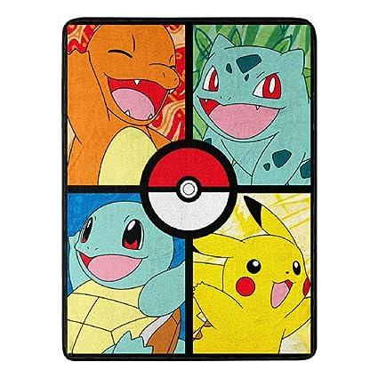 Amazon.com: Franco Pokemon Throw Blanket 46 x 60 Inches ...