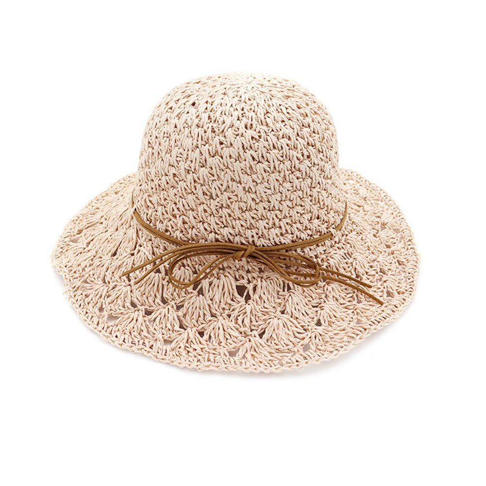 e2b4cd930 Bingirl Summer Women's Handmade Knitting Wide Brim Floppy Hollow Out ...