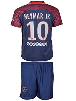 ec5cbb3674 Equipación para niños Paris Saint Germain (2017 18) local y visitante  10  Neymar