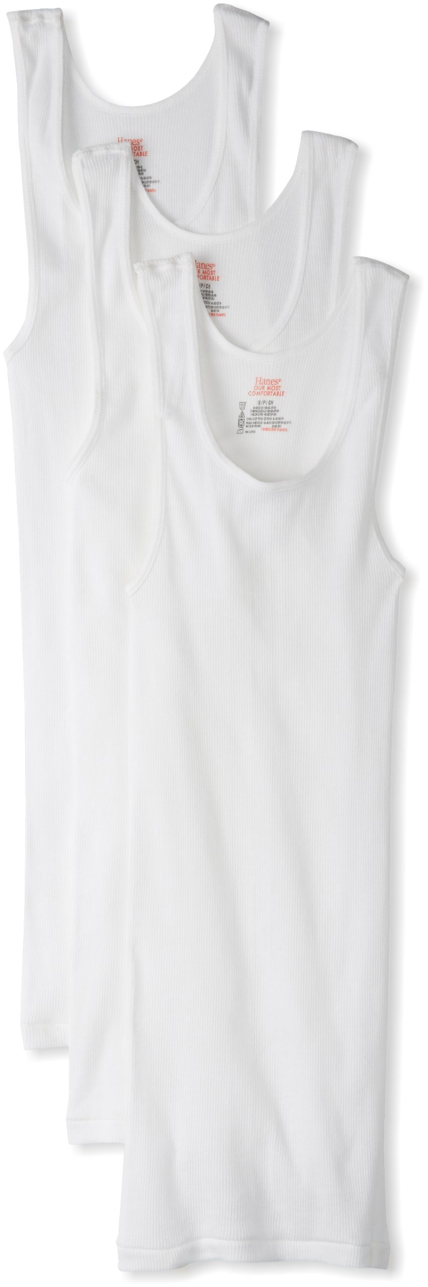 Hanes Ultimate Men's Big and Tall 3-Pack Tagless Tank, White, 4X-Large by Hanes Ultimate