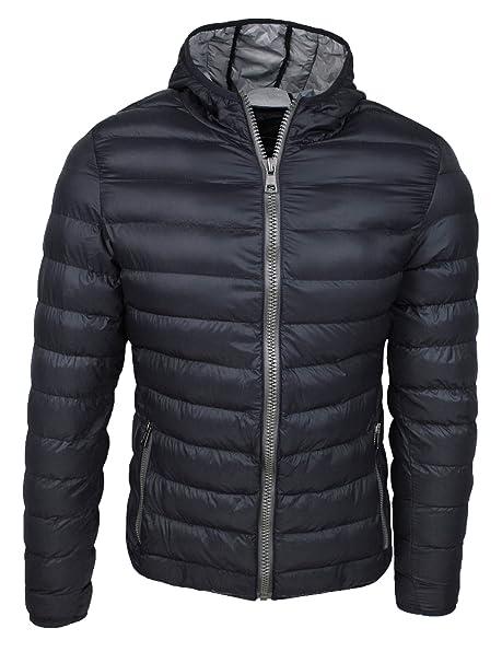 online store 572a9 dd6e0 Piumino uomo trade invernale casual giacca giubbotto slim fit con cappuccio