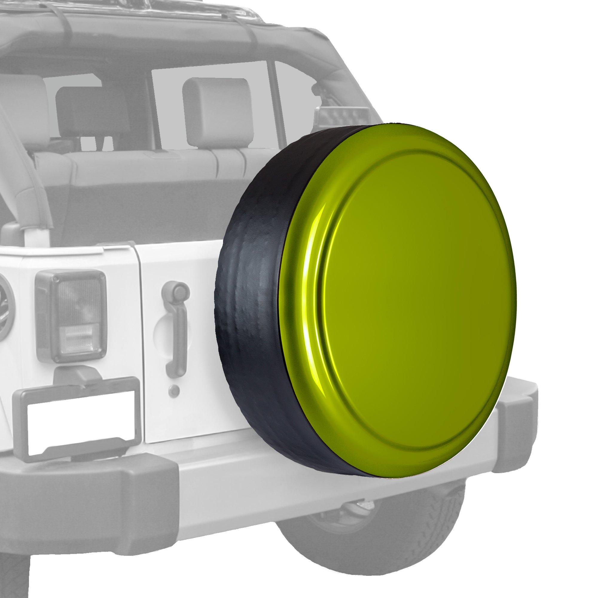 Boomerang Jeep Wrangler (JK) - 35'' Color Matched Rigid Tire Cover (Plastic Face & Vinyl Band) - Rescue Green