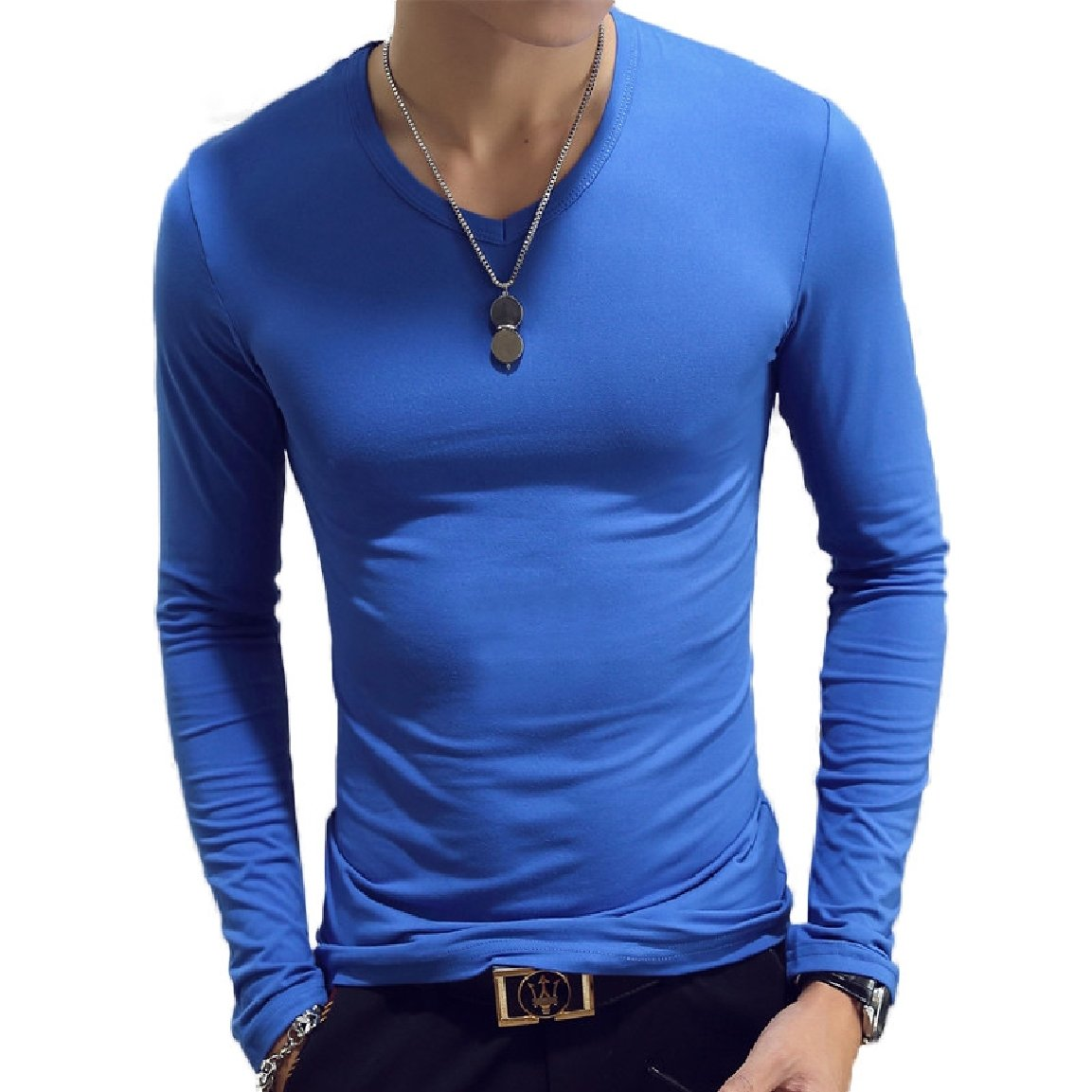 RomantcMen Comfort Comfort Solid Relaxed-Fit Regular T-Shirt Top 6 L by RomantcMen (Image #1)