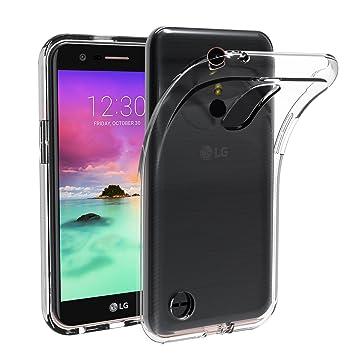 ivoler Funda Carcasa Gel Transparente para LG K10 2017, Ultra Fina 0,33mm, Silicona TPU de Alta Resistencia y Flexibilidad