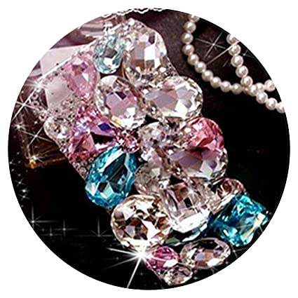 8722370cf Cute 3D Bling Crystal Diamonds Rhinestone Hard Back Case Cover for iPhone  7 7Plus