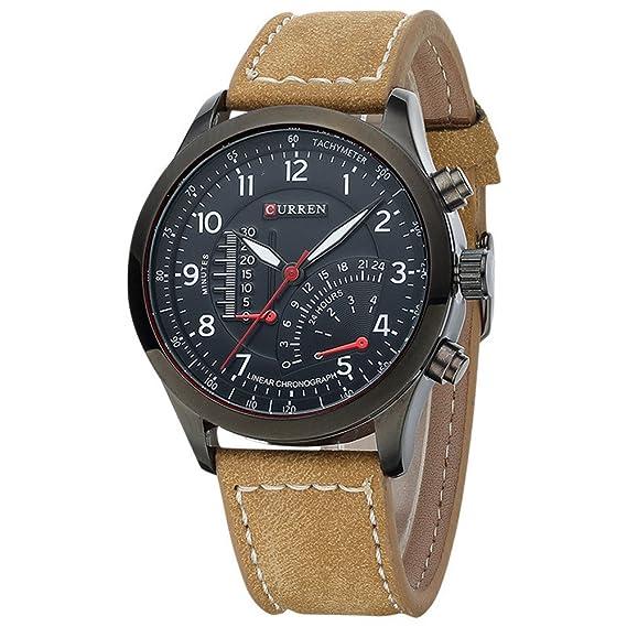 af3f81f22f34 CURREN 8152 Men s Quartz Watches Top Brand Luxury Men Wristwatches Men  Military Leather Sports Watch (