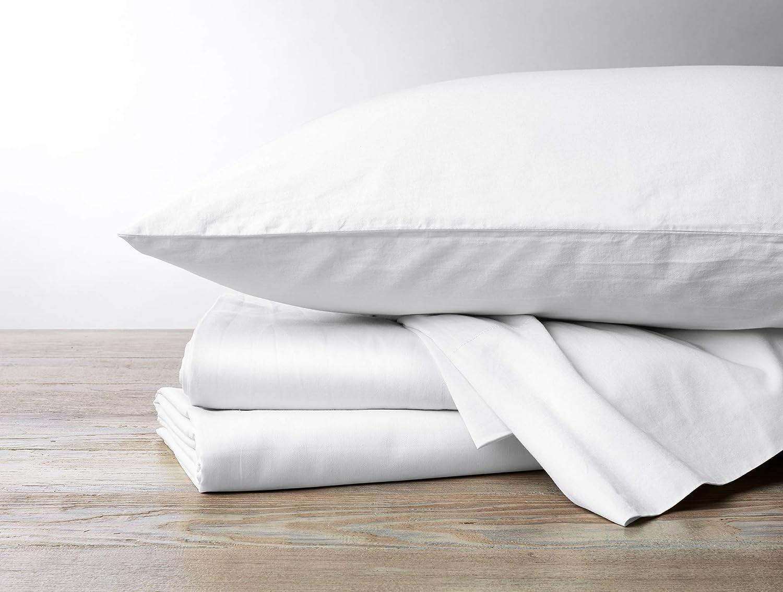 Coyuchi 300 Thread Count Organic Sateen Sheet Set, King, Alpine White