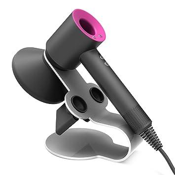 Dyson Supersonic secador de pelo titular de soporte, Basstop Soporte de aleación de aluminio para el secador de pelo Dyson Supersonic, difusor y dos ...