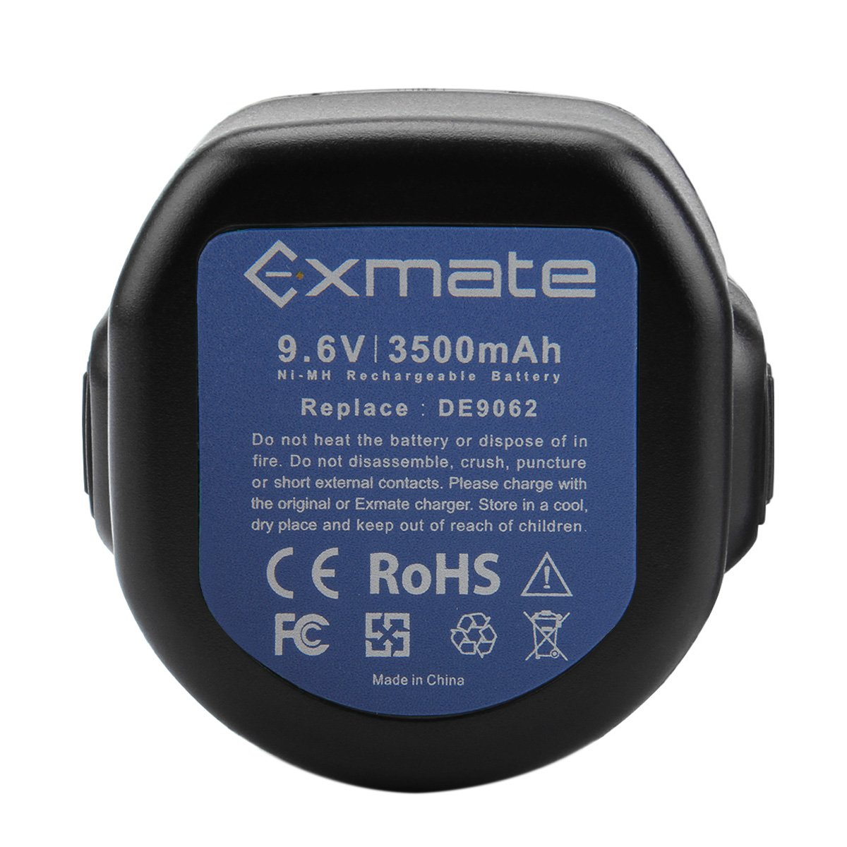 Exmate 9.6V 3.5Ah Ni-MH Bater/ía para Dewalt DE9036 DE9061 DE9062 DW9061 DW9062 DC750KA DC855KA DW050 DW050K DW902 DW926K DW926K-2 DW952 DW955 DW955K DW955K-2