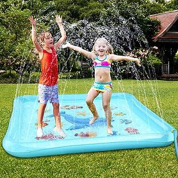 Yard Water Spray Pad Kids Outdoor Sprinkler Splash Playing Mat Summer Toys 170CM