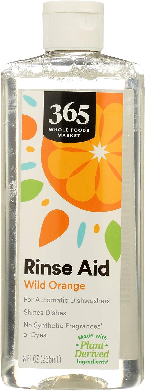 365 by Whole Foods Market, Automatic Dishwashers Rinse Aid, Wild Orange, 8 Fl Oz