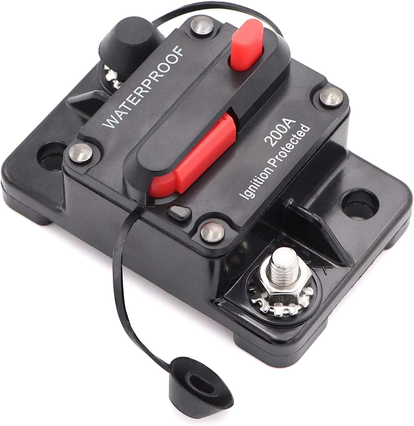 200A Mottdam Schutzschalter 50-300A,Leitungsschutzschalter 50 AMP Reset Sicherung 12-48V DC Sicherung Auto Boot Leistungsschalter