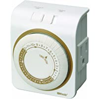 Woods Indoor 24-Hour Heavy Duty Plug-In Mechanical Timer 1 Grounded Outlet (White)