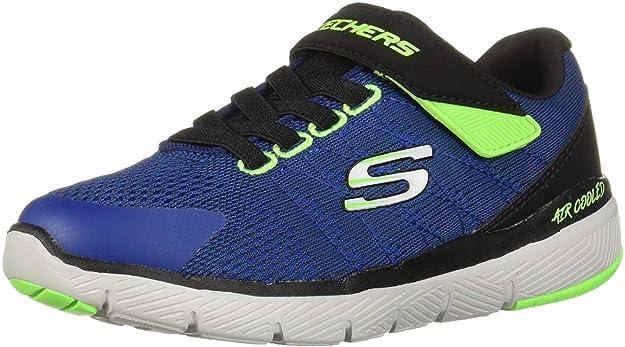SKECHERS Flex Advantage 3.0 Transvert Jungen Sneaker schwarzgrauorange, Größe:34, Farbe:Schwarz