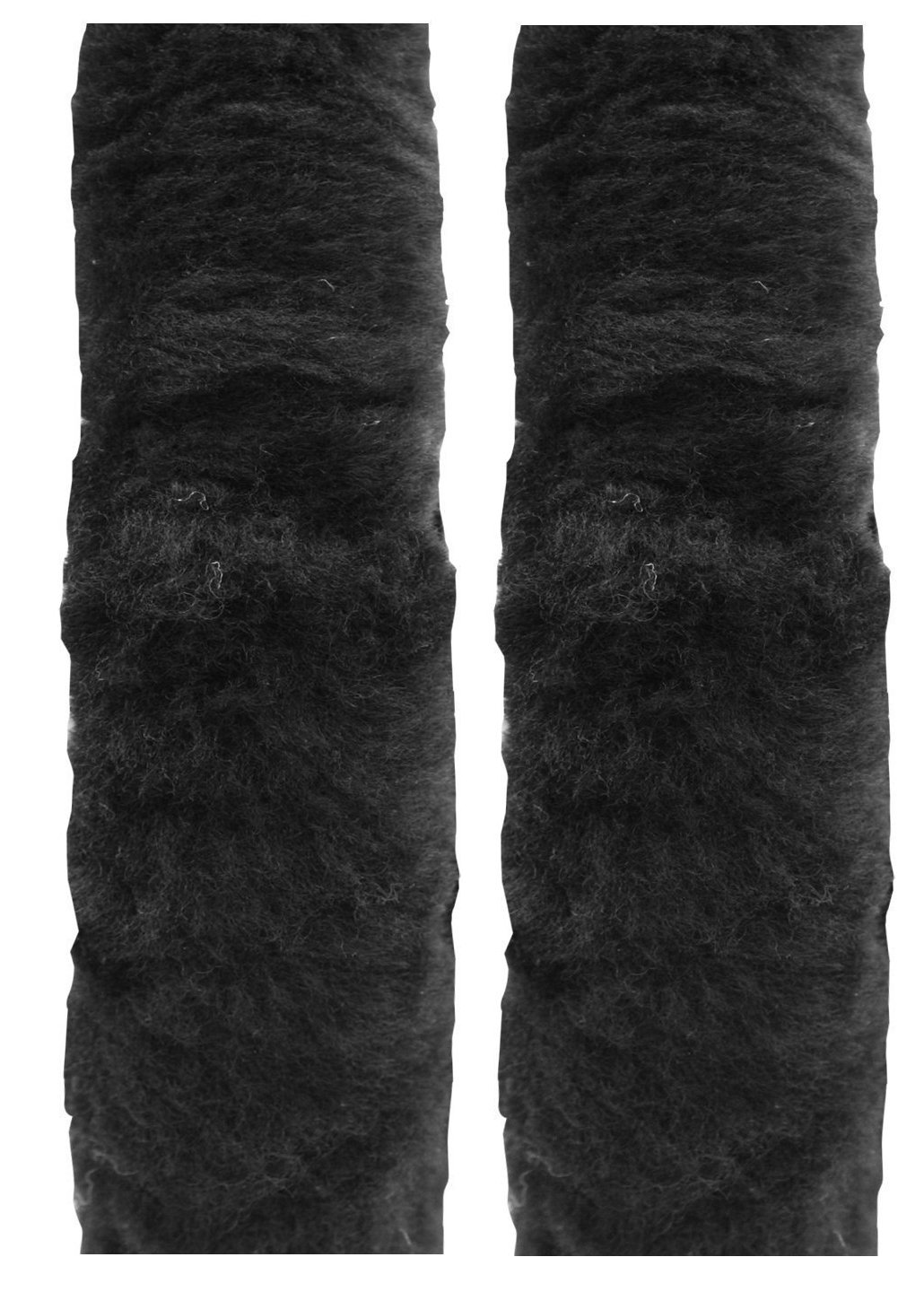 "Cutequeen Trading 10"" Black Sheepskin Seat Belt"