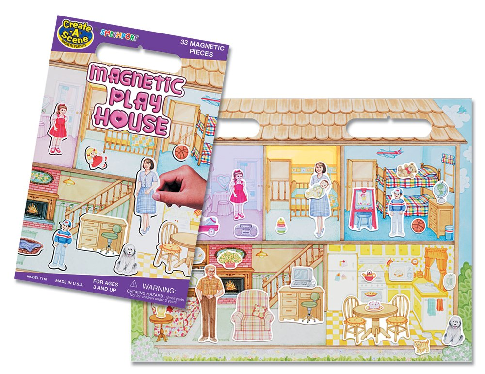 Create-A-Scene Magnetic Playset - Playhouse
