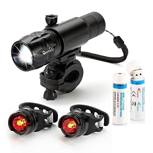 110 opinioni per [Rilascio-Rapido] OxyLED® BL30 Set Luce da Bici a LED Ricaricabile Luminosa, 1