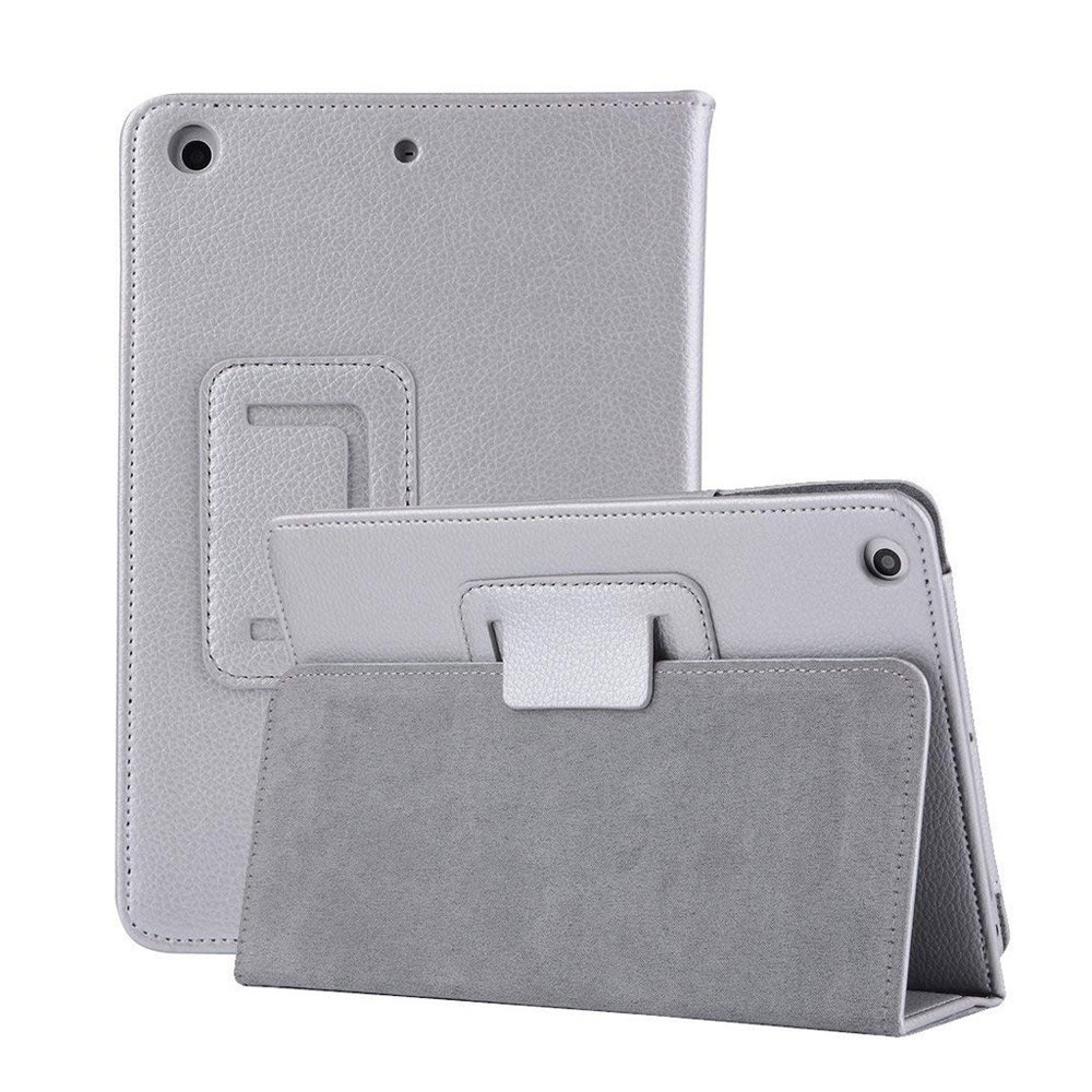 2018 New iPad 9.7 inch Case Sleeve,MeiLiio Premium Folio Leather Case Book Design Cover Lightweight Slim Fit Stand Smart Protective Case for iPad Air 1/2/2017/2018 New iPad 9.7 inch Tablet (Silver)