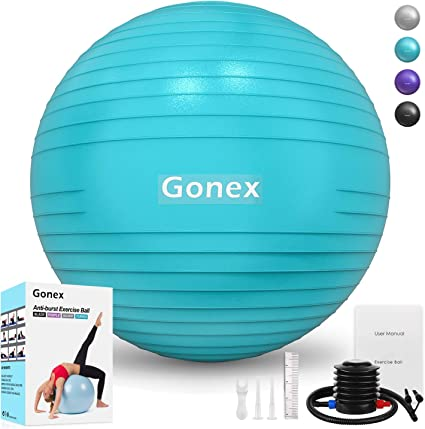Gonex pelota de ejercicio, antiexplosión y antideslizante, balón ...