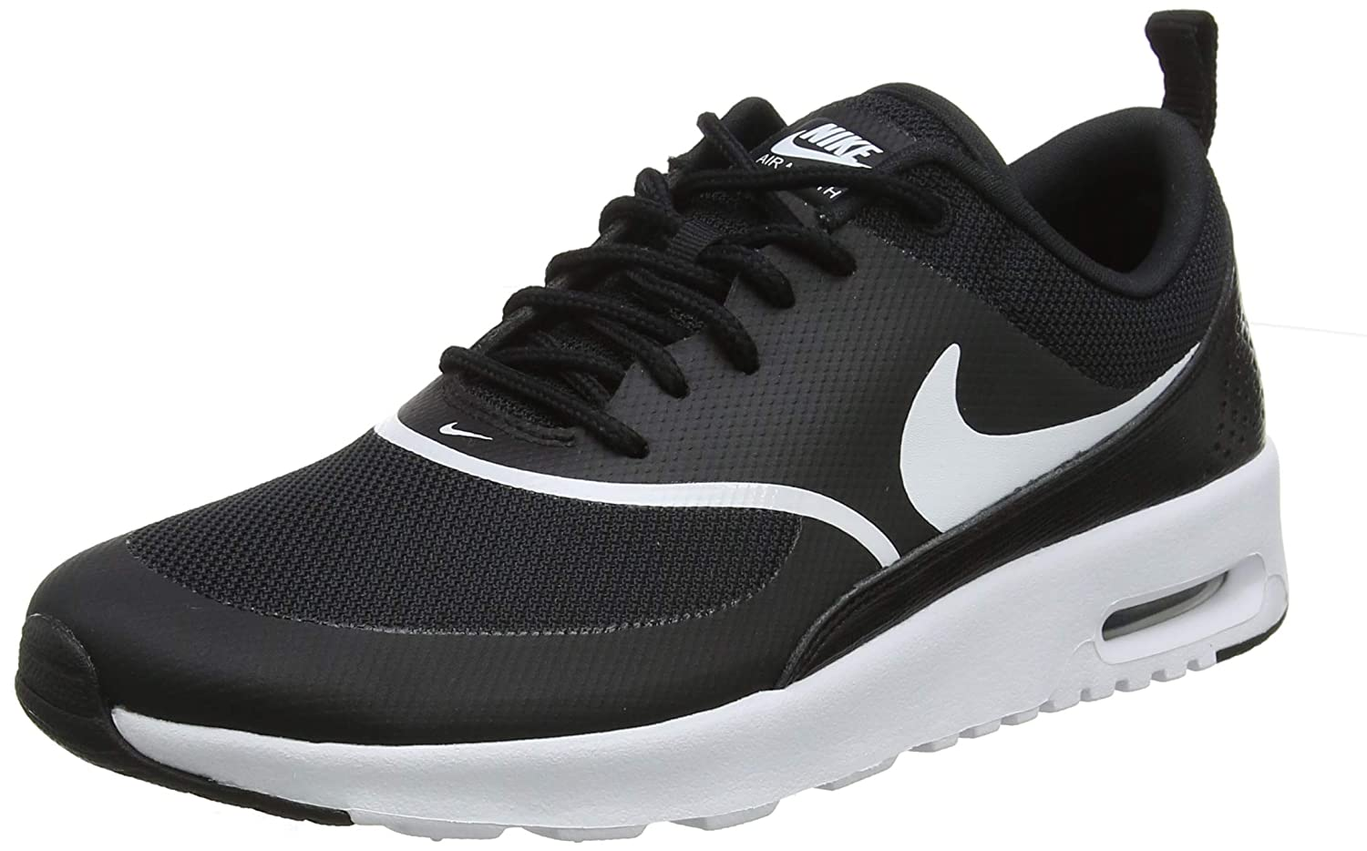 on feet shots of various design attractive price Nike Women's Air Max Thea Derbys, Black (Black/White 028), 5 UK 38.5 EU