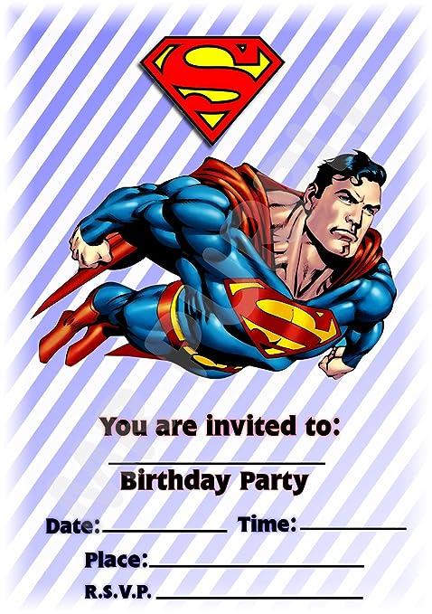 Superhéroe Superman diseño de rayas de fiesta de cumpleaños ...