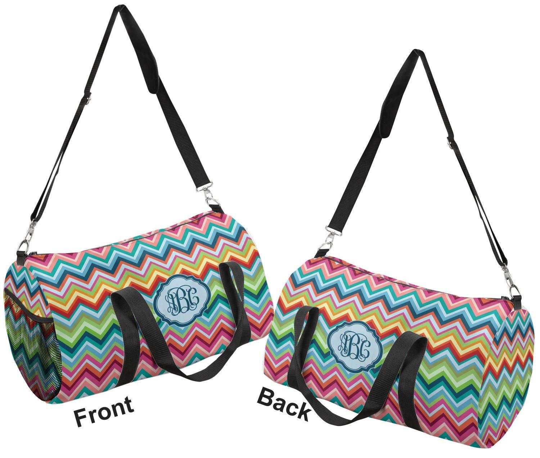 YouCustomizeIt Retro Chevron Monogram Duffel Bag Personalized Multiple Sizes